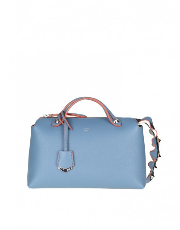 FENDI BORSA BY THE WAY pelle blu ceruleo