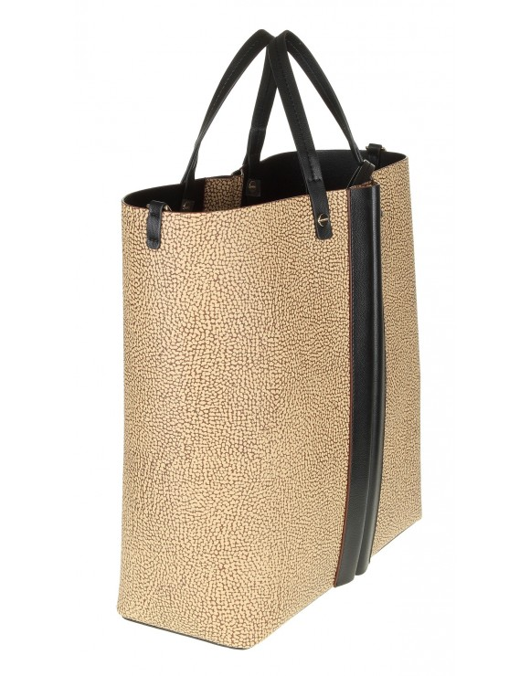 BORBONESE SHOPPING BAG LEATHER