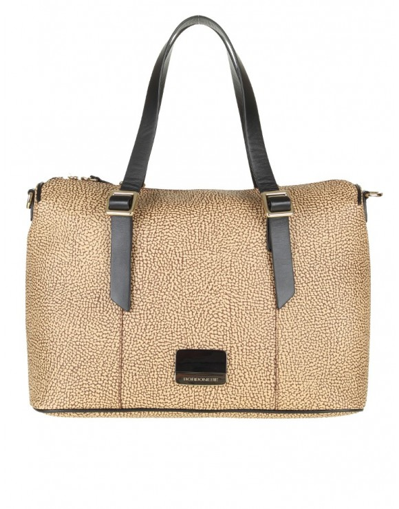 BORBONESE MEDIUM LEATHER BAG