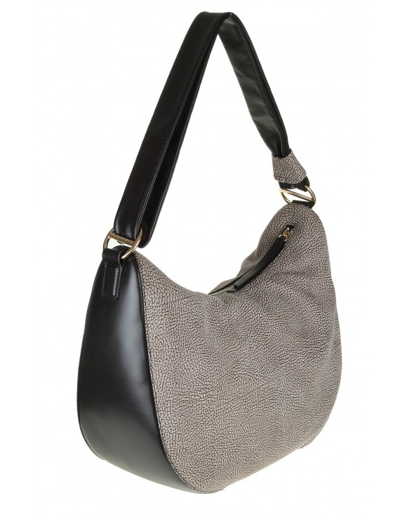 BAG LUNA MEDIUM GREY LEATHER