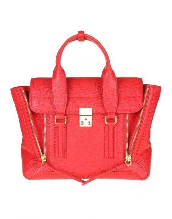 "PHILLIP LIM BORSA MEDIUM  ""PASHLI"" IN PELLE ROSSA"