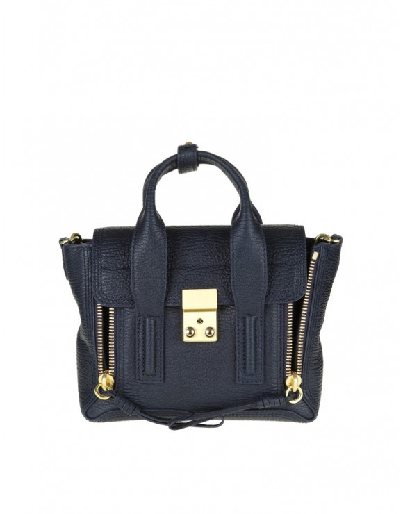 "PHILLIP LIM BORSA ""PASHLI"" MINI IN PELLE BLU"