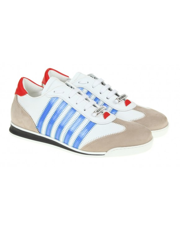 DSQUARED2 SNEAKERS NEW RUNNER BIANCO