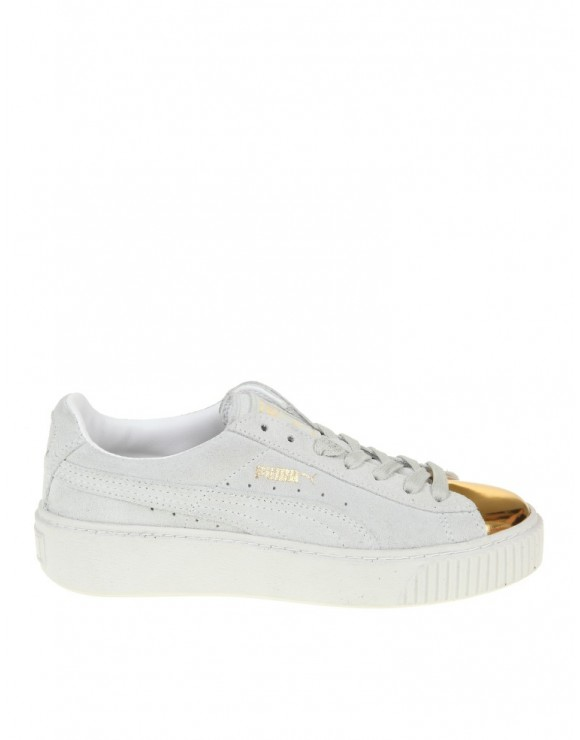 PUMA SNEAKERS PLATFORM WHITE/GOLD