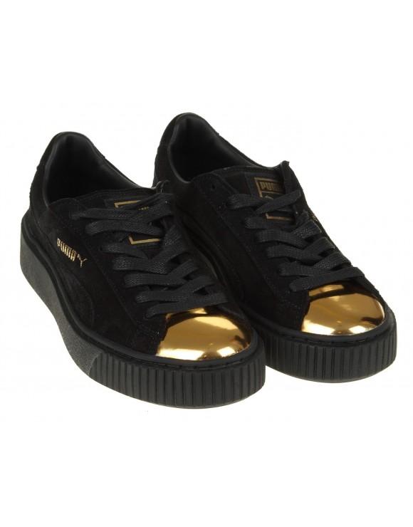 PUMA SNEAKERS PLATFORM BLACK/GOLD