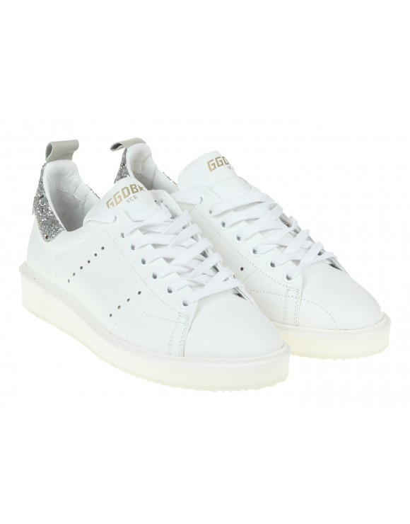GOLDEN GOOSE STARTER SNEAKERS WHITE LEATHER