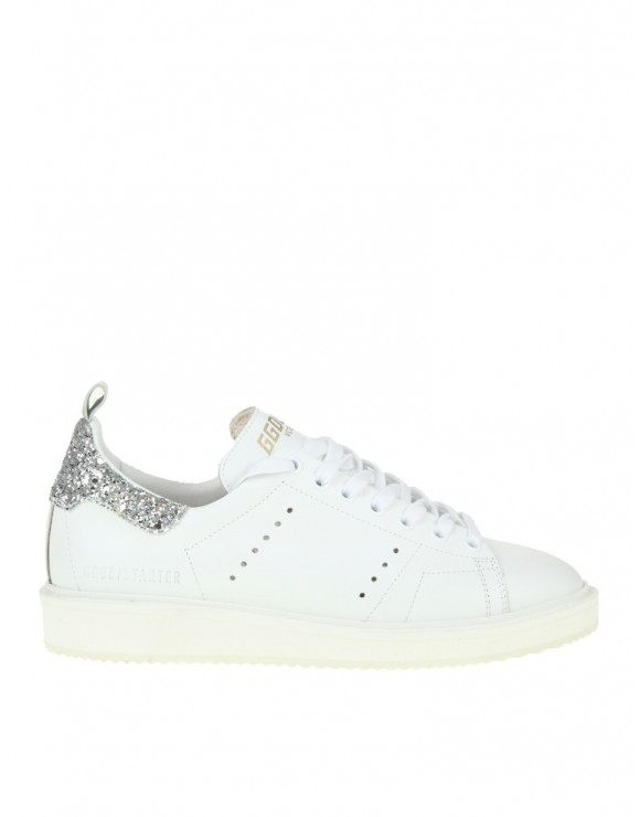 GOLDEN GOOSE SNEAKERS STARTER IN PELLE BIANCA