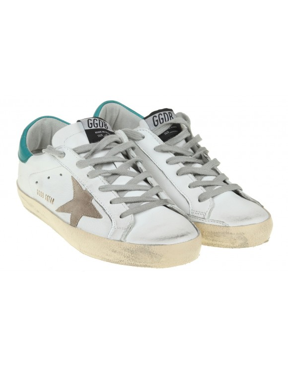 GOLDEN GOOSE SUPERSTAR SNEAKERS LEATHER WHITE / GREEN
