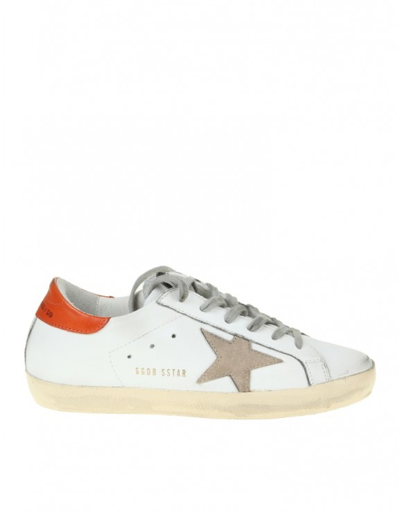 GOLDEN GOOSE SUPERSTAR SNEAKERS LEATHER WHITE / RED