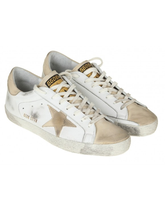 GOLDEN GOOSE SNEAKERS SUPERSTAR IN PELLE BIANCO