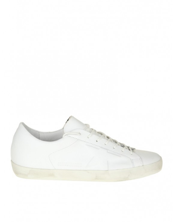 GOLDEN GOOSE SNEAKERS IN PELLE BIANCA