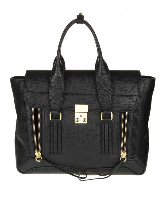 "PHILLIP LIM BORSA MEDIUM ""PASHLI"" IN PELLE NERA"