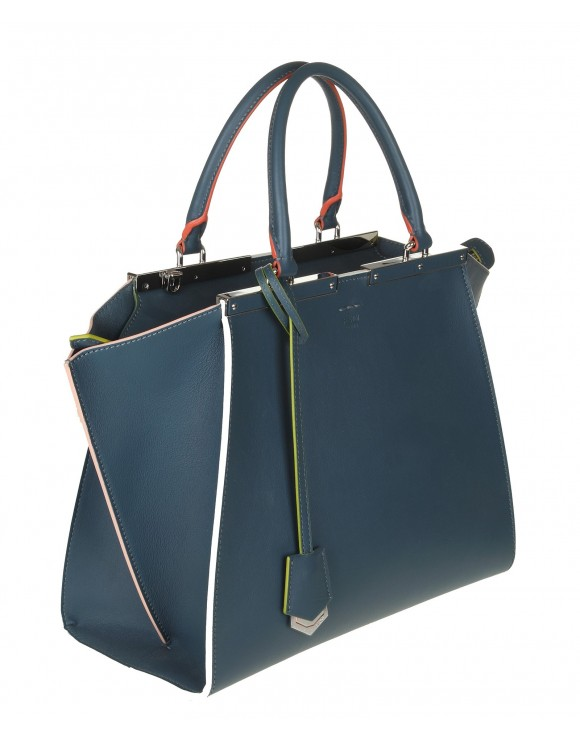 FENDI 3JOUR SHOPPER BLU PAVONE