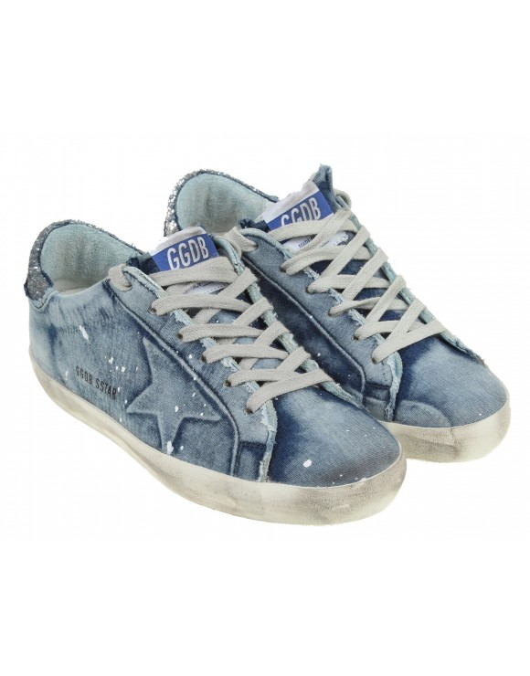 GOLDEN GOOSE SNAEKERS DENIM SUPERSTAR