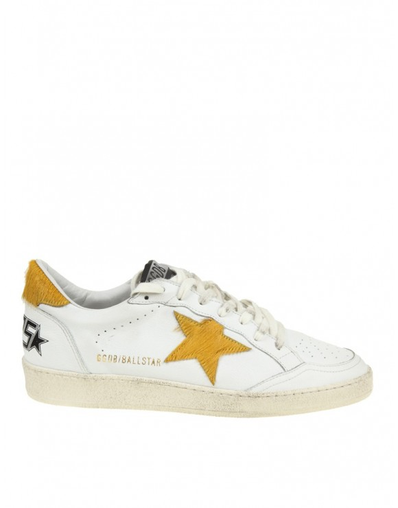 GOLDEN GOOSE SNEAKERS BIANCO BALL STAR