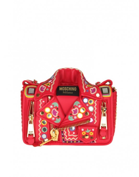MOSCHINO BAG WITH CHAIN RED