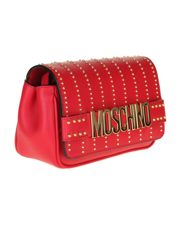 MOSCHINO SHOULDER BAG IN SKIN COLOR RED