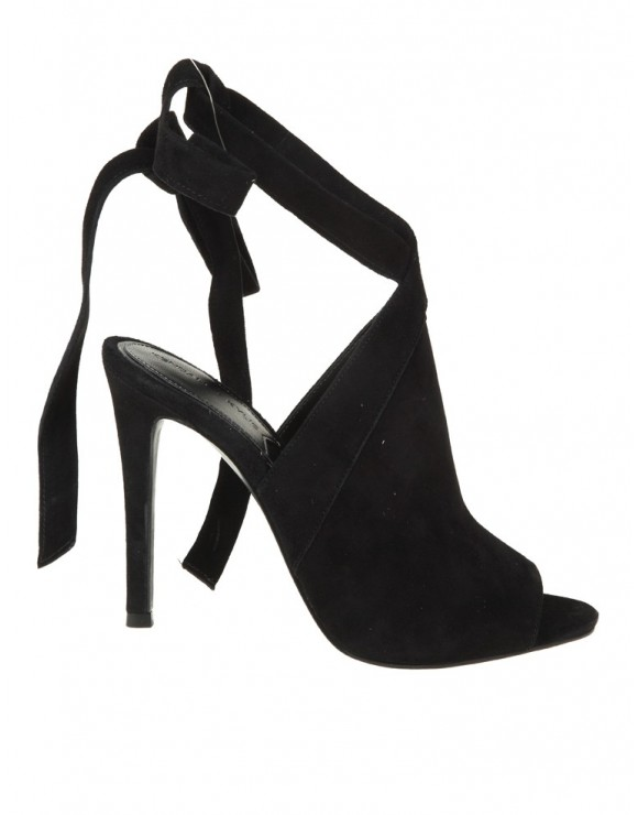 KENDAL+KYLIE EVELYN BLACK SUEDE SANDALS