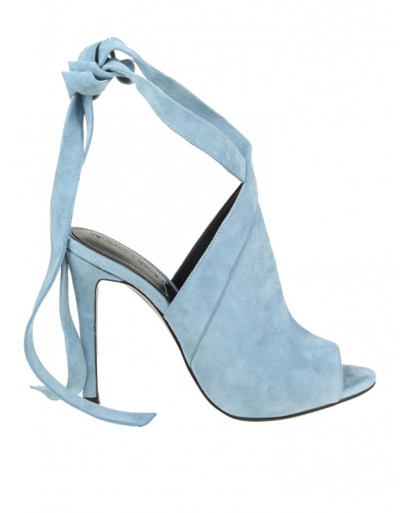 KENDAL+KYLIE EVELYN BLUE SUEDE SANDALS