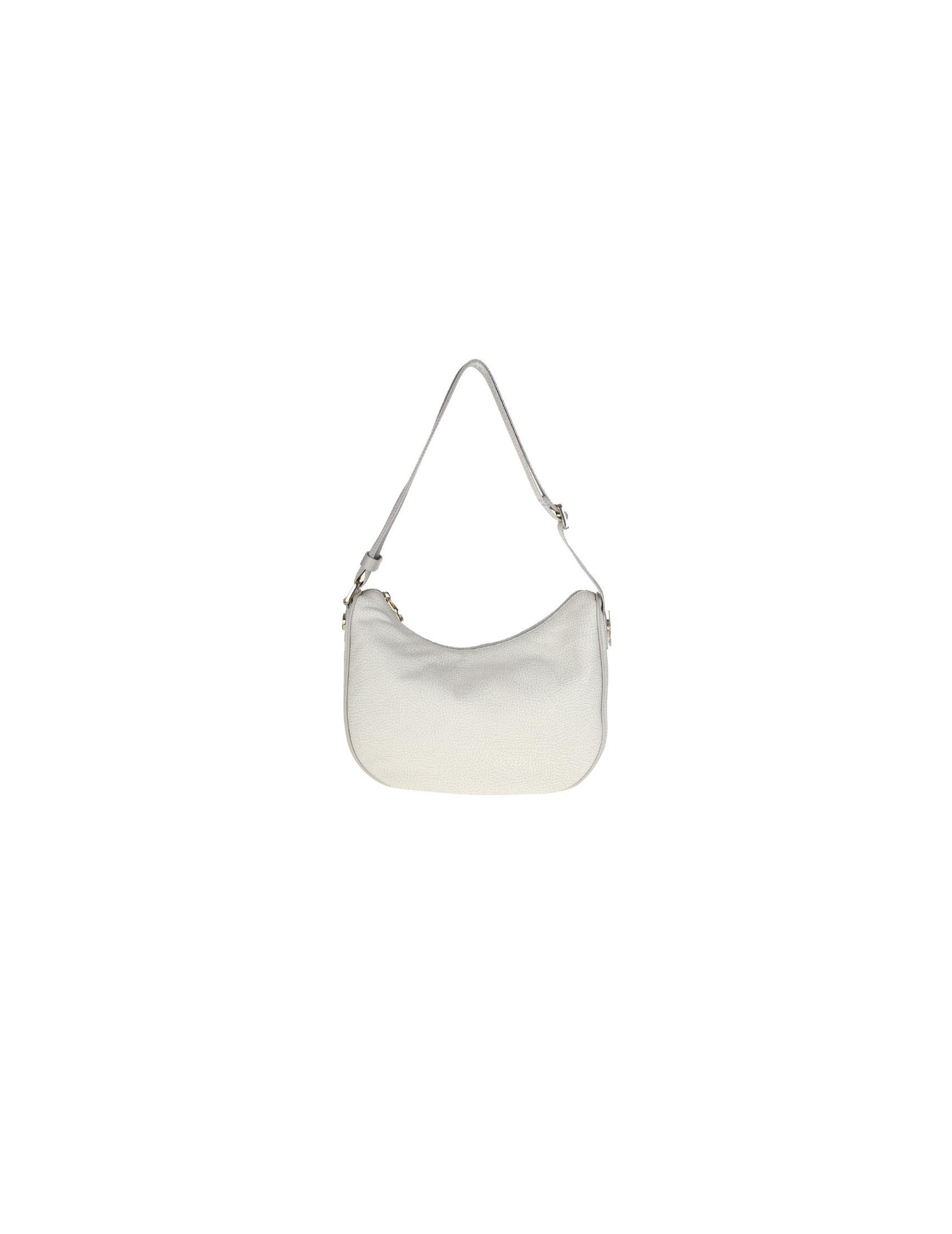 Borbonese White leather shoulder bag 5hFpunWfWz