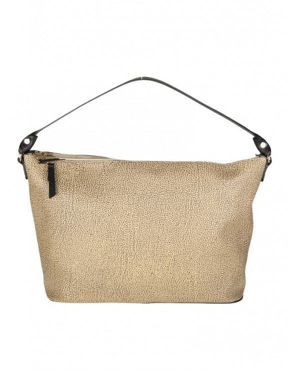 BORBONESE BORSA HOBO MEDIUM IN PELLE COLORE SAFARI