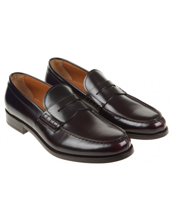 DOUCAL'S MOCASSINO IN PELLE COLORE BURGUNDY