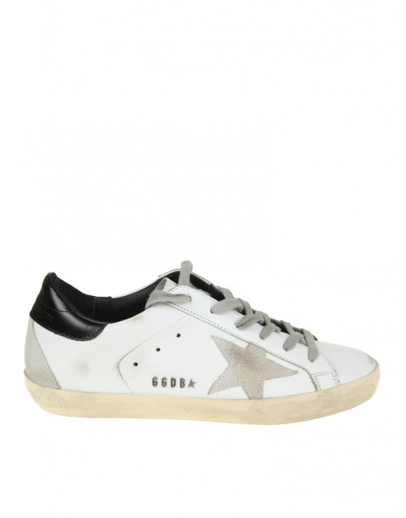 GOLDEN GOOSE SNEAKERS SUPERSTAR IN PELLE BIANCO NERO