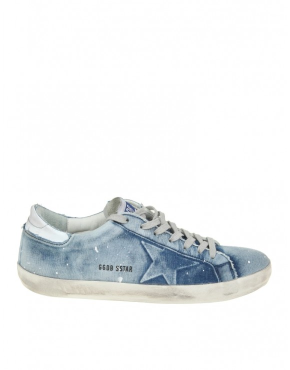 GOLDEN GOOSE SUPERSTAR IN COTONE EFFETTO DENIM