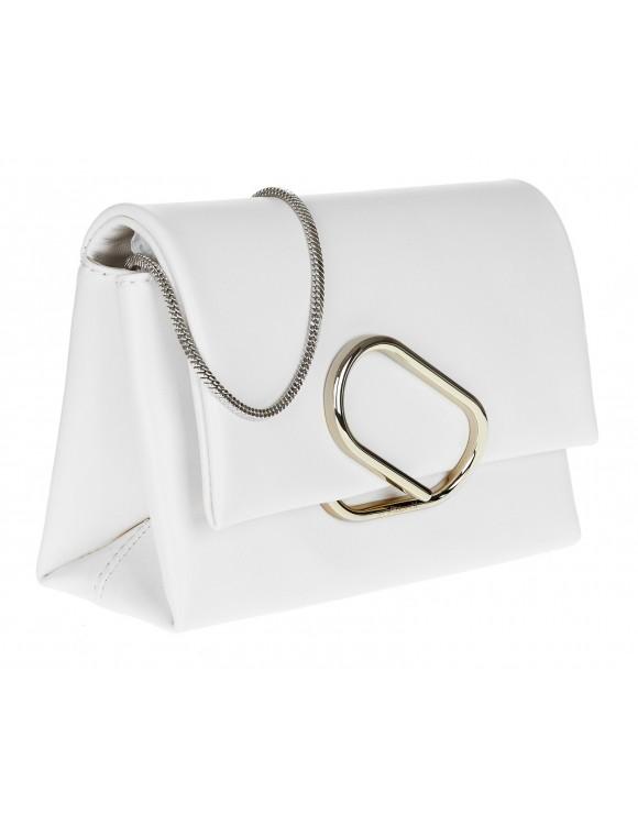 PHILLIP LIM CLUTCH BAG LEATHER WHITE