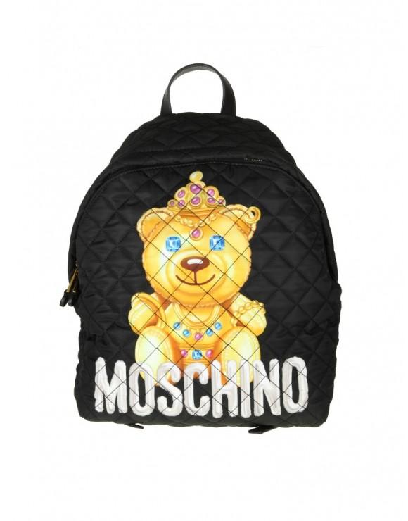 "MOSCHINO BACKPACK ""TEDDY BEAR"" FABRIC BLACK"
