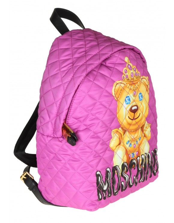 "MOSCHINO BACKPACK ""TEDDY BEAR"" FABRIC COLOR PURPLE"