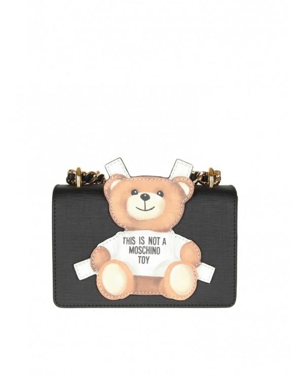 """MOSCHINO BAG """"teddy bear"""" black"""