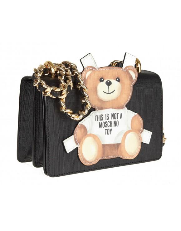 """MOSCHINO BORSA TRACOLLA """"teddy bear"""" colore nero"""