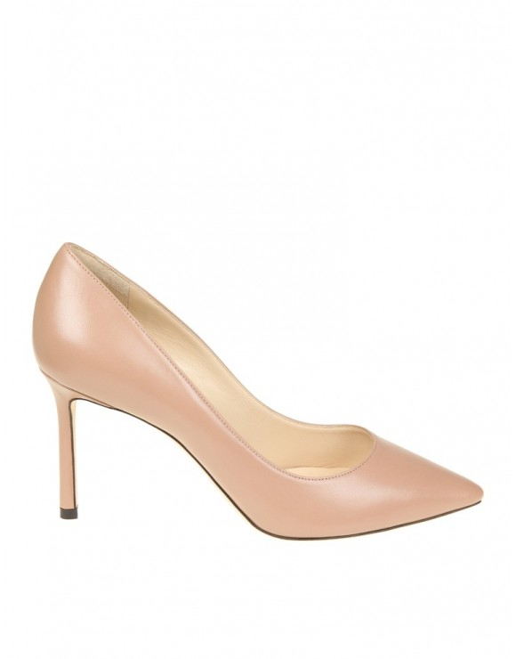 "JIMMY CHOO DECOLLETE '""ROMY"" IN CYPRUS COLOR LEATHER"