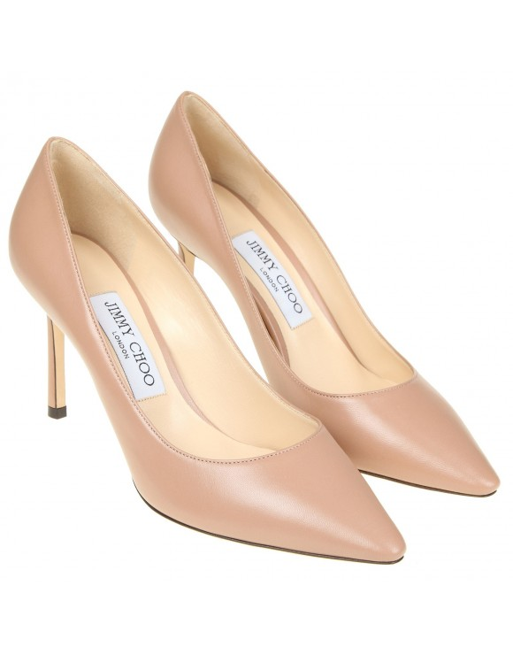 """JIMMY CHOO DECOLLETE '""""ROMY"""" IN CYPRUS COLOR LEATHER"""