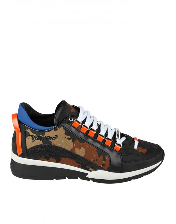 DSQUARED2 SNEAKERS 551 CAMOUFLAGE