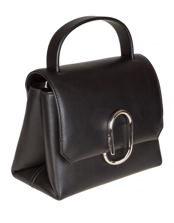 PHILLIP LIM ALIX MINI TOP HANDLE SATCHEL IN PELLE COLORE NERO