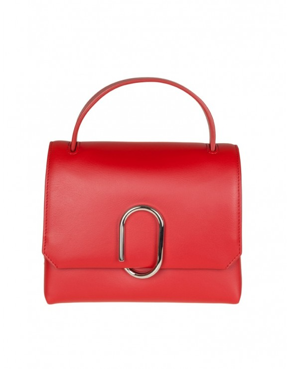 PHILLIP LIM ALIX MINI TOP HANDLE SATCHEL IN PELLE COLORE ROSSO