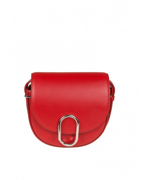 PHILLIP LIM ALIX MINI SADDLE CROSSBODY IN PELLE COLORE ROSSO