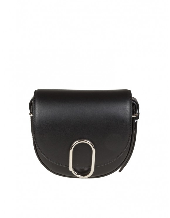 PHILLIP LIM ALIX MINI SADDLE CROSSBODY IN PELLE COLORE NERO
