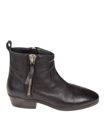 Viand Rl5q3ja4 Pelle In Nero Boots Goose Golden bgvY7yf6
