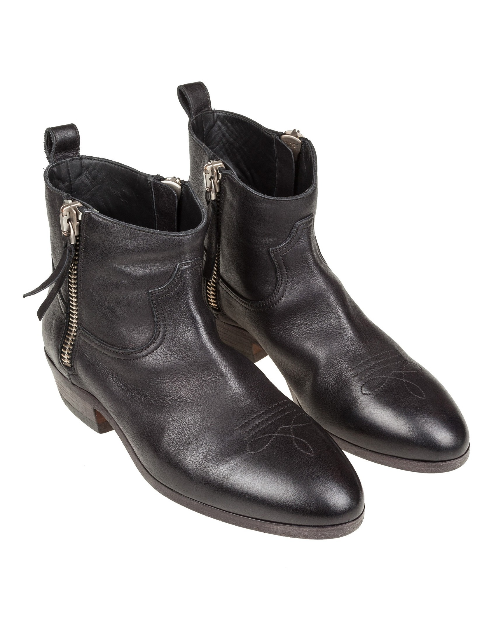 GOLDEN GOOSE BOOTS VIAND BLACK LEATHER cd82f3b90b0