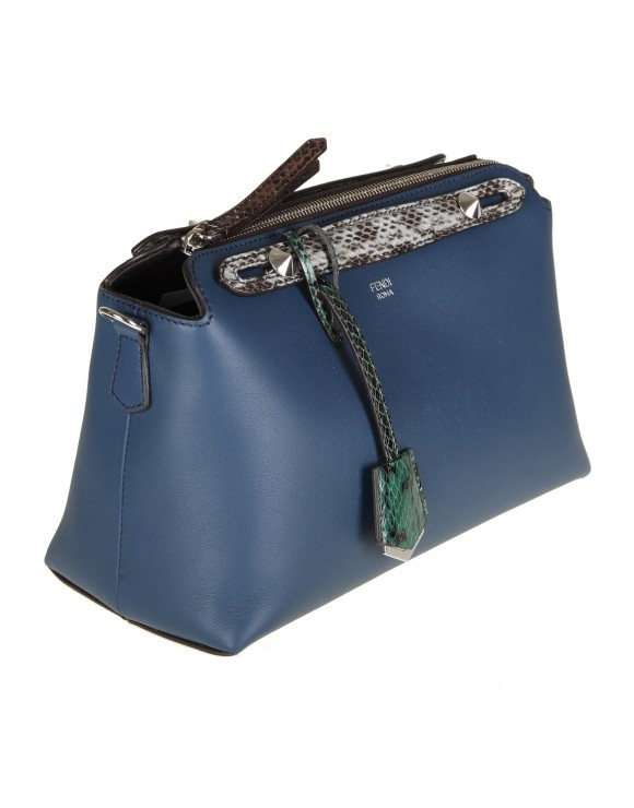 "FENDI BORSA "" BY THE WAY"" IN PELLE COLORE BLU"