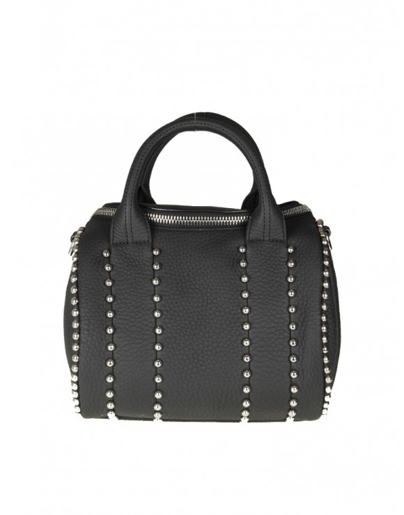 ALEXANDER WANG BORSA ROCKIE BALL IN PELLE CON BORCHIE APPLICATE