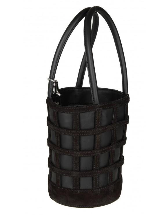 ALEXANDER WANG BAGS ROXY MINI bucket in pelle colore nero