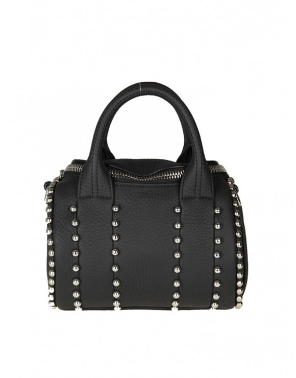 ALEXANDER WANG BORSA MINI ROCKIE BALL in pelle colore nero