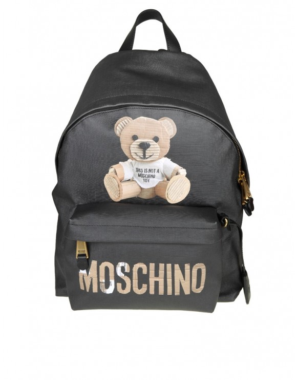 "MOSCHINO ZAINO ""TEDDY BEAR"" COLORE NERO"