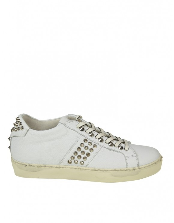 LEATHER CROWN SNEAKERS  IN PELLE CON BORCHIE