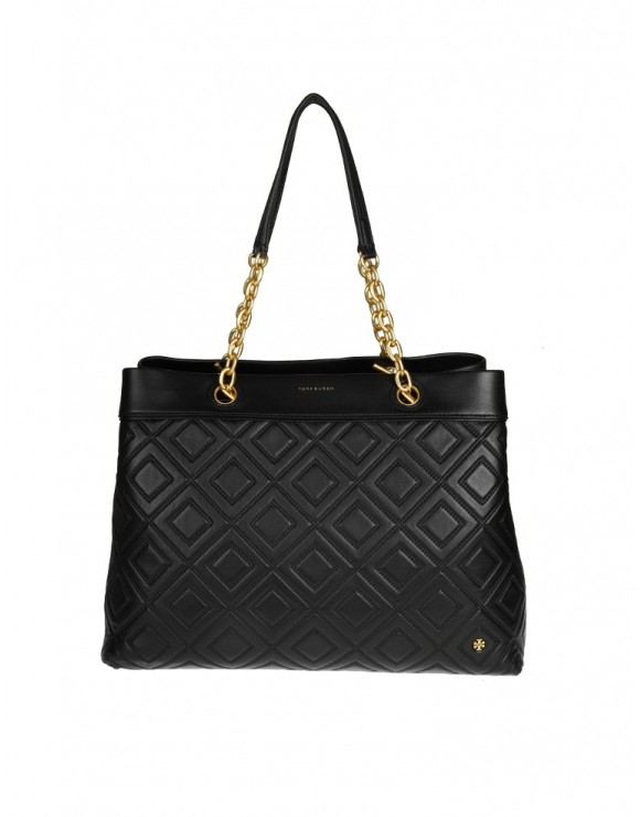 TORY BURCH BORSA FLEMING TRIPLE COMPARTMENT IN PELLE COLORE NERO