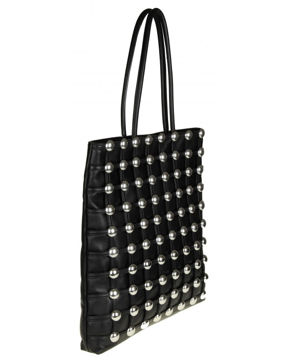 ALEXANDER WANG BORSA SHOPPING IN PELLE CON BORCHIE